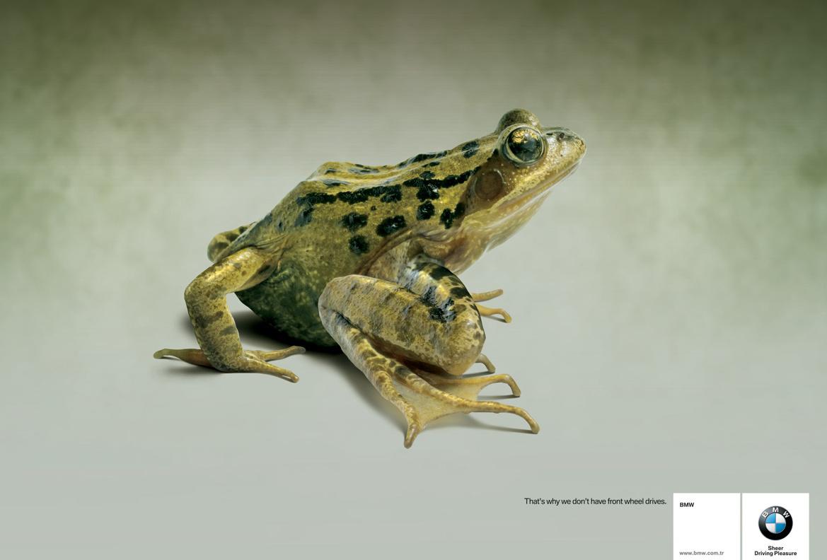 BMW reklama žaba